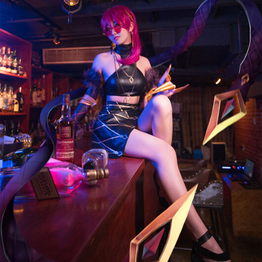 Evelynn Cosplay KDA Evelynn Costume Product Etails (4)