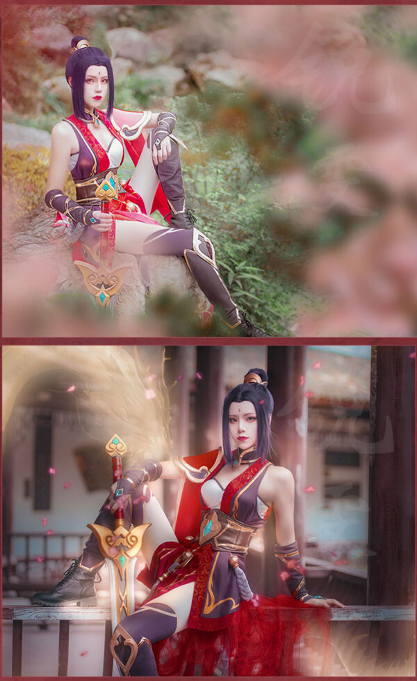 Riven Cosplay Valiant Sword Riven Costume Product Etails (7)