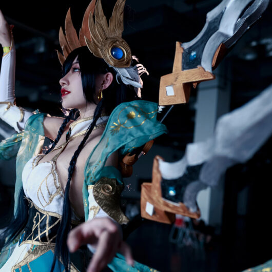 Divine Sword Irelia Cosplay Costume Product Etails (12)