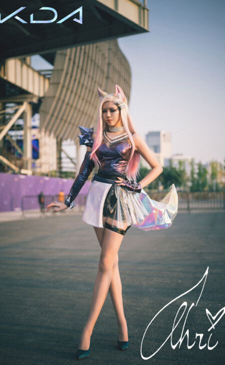 KDA ALL OUT Ahri Cosplay Costume Product Etails (4)