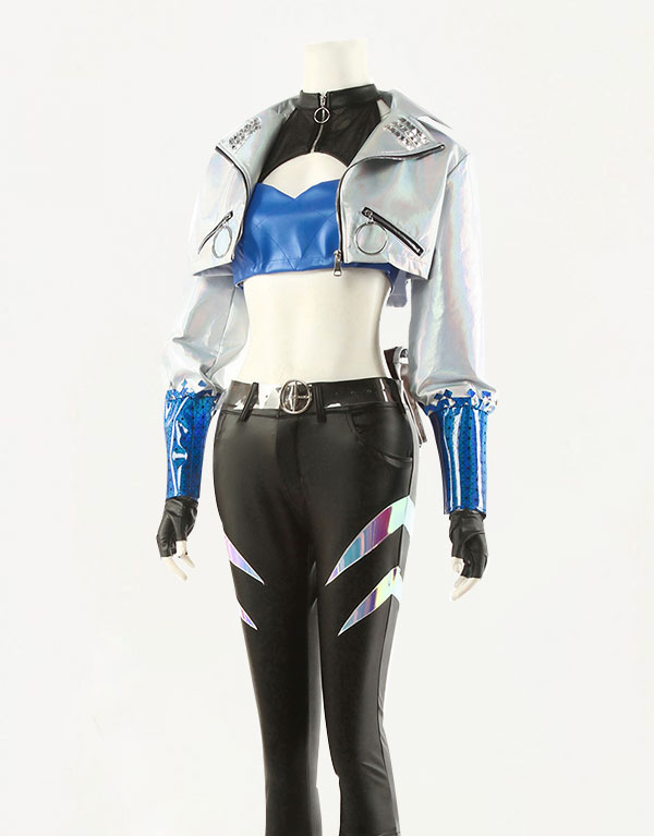 KDA ALL OUT Akali Cosplay Costume (1)