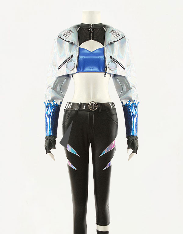 KDA ALL OUT Akali Cosplay Costume (2)