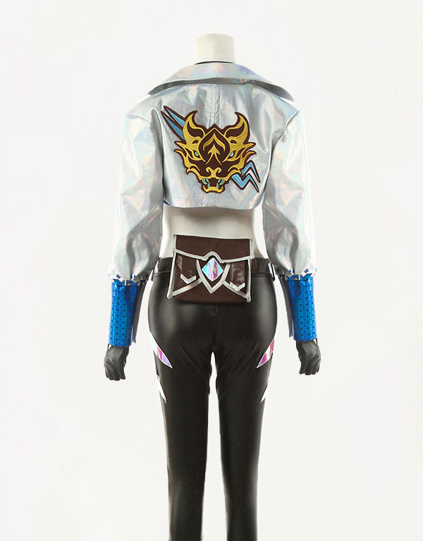 KDA ALL OUT Akali Cosplay Costume (3)