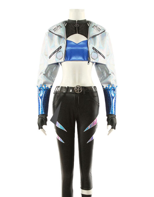 KDA ALL OUT Akali Cosplay Costume Product Etails (2)
