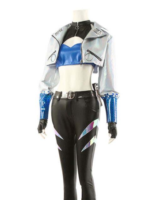 KDA ALL OUT Akali Cosplay Costume Product Etails (4)
