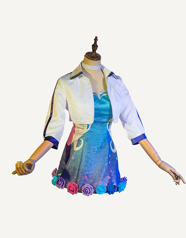 KDA ALL OUT Seraphine Rising Star Cosplay Costume (2)