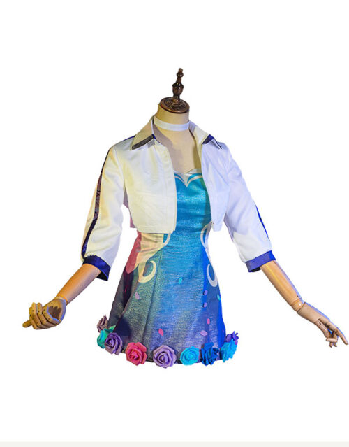 KDA ALL OUT Seraphine Rising Star Cosplay Costume Product Etails (2)