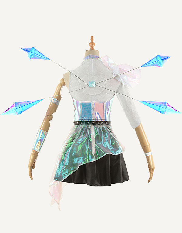 KDA ALL OUT Seraphine Superstar Cosplay Costume (3)