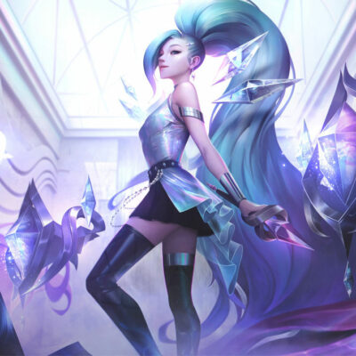 KDA ALL OUT Seraphine Superstar Cosplay Costume Product Etails (1)