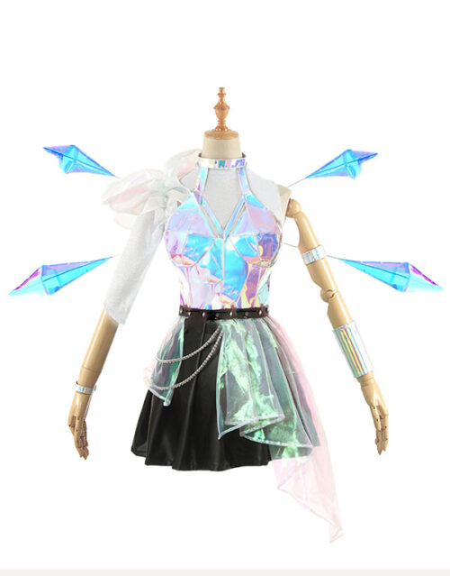 KDA ALL OUT Seraphine Superstar Cosplay Costume Product Etails (16)