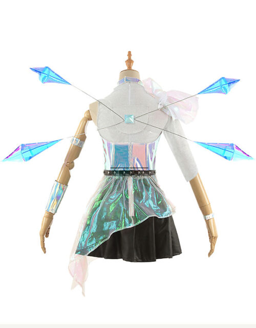 KDA ALL OUT Seraphine Superstar Cosplay Costume Product Etails (17)