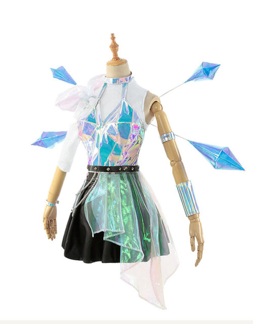 KDA ALL OUT Seraphine Superstar Cosplay Costume Product Etails (18)