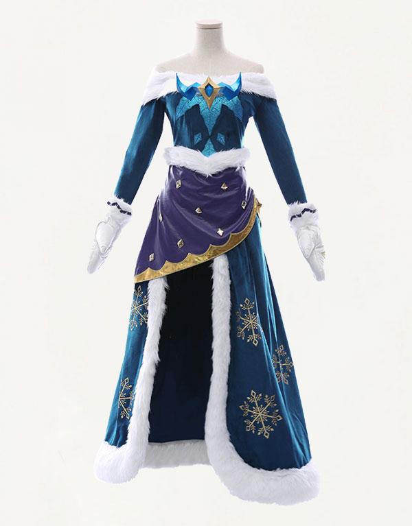 Winter Wonder Soraka Cosplay Costume (2)