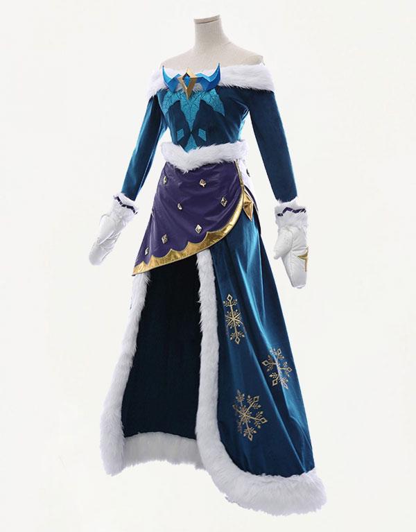 Winter Wonder Soraka Cosplay Costume (3)