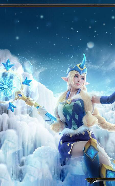 Winter Wonder Soraka Cosplay Costume Product Etails (20)