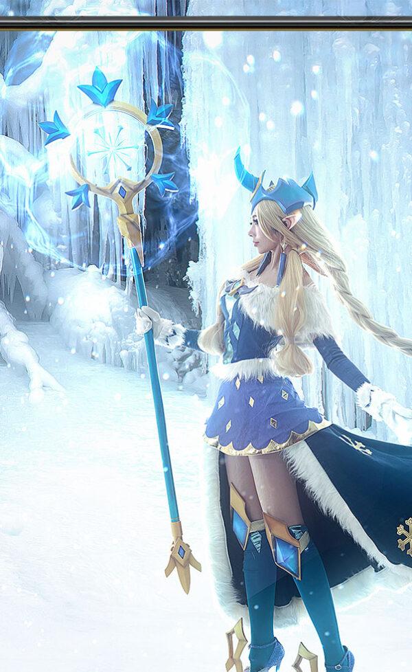 Winter Wonder Soraka Cosplay Costume Product Etails (21)