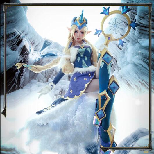 Winter Wonder Soraka Cosplay Costume Product Etails (7)